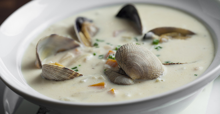 Chefs offer personal touches to New England clam chowder in