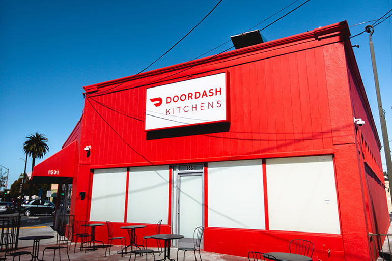 DoorDash launches shared ghost kitchen in Silicon Valley