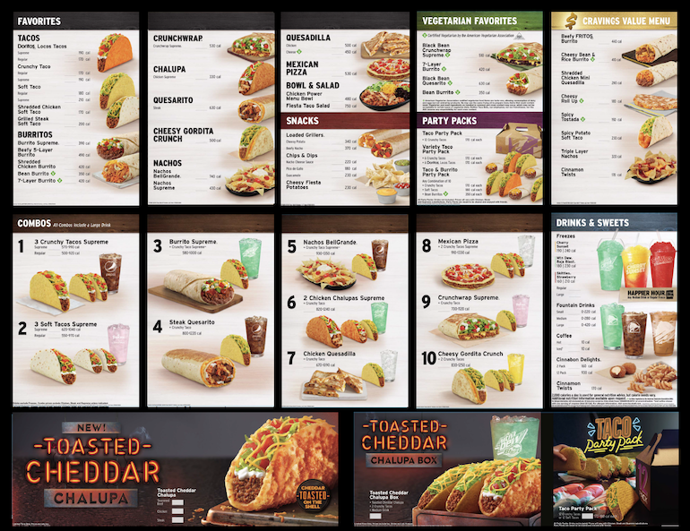 Taco Bell New Vegetarian Menu Board.png