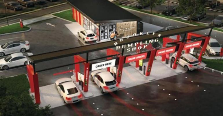 Brooklyn Dumpling Shop drive-thru rendering