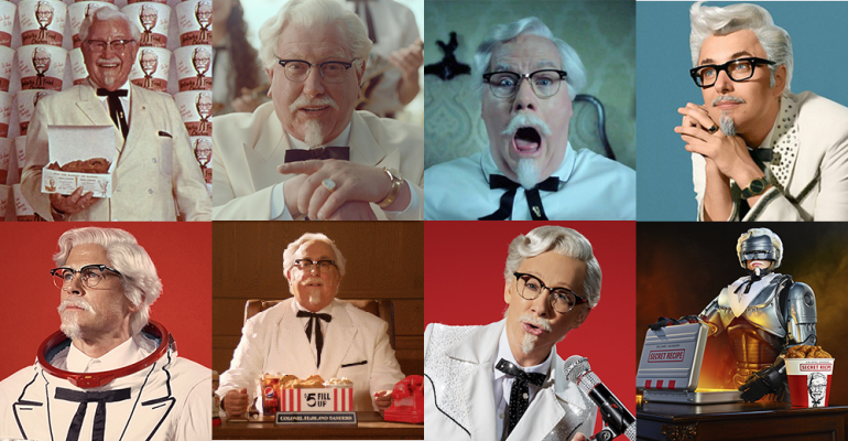 KFC Colonels through the years