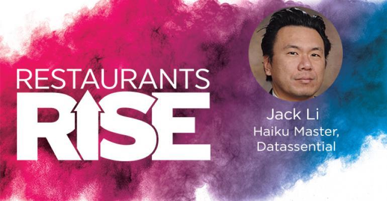 Restaurants Rise logo featuring Jack Li