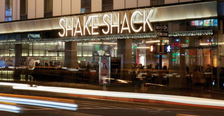 A Shake Shack location in NYC, where sales are down 58%