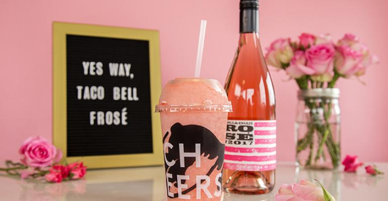 Taco Bell tests frosé at 2 Cantina locations