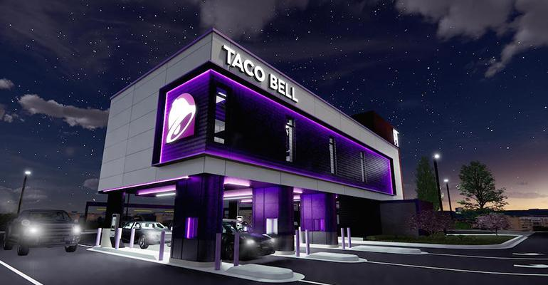 A rendering of Taco Bell's new Defy prototype