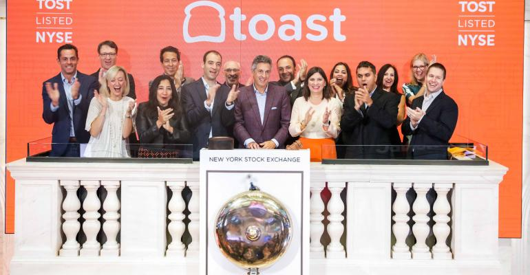 Toast's team on the day of its IPO