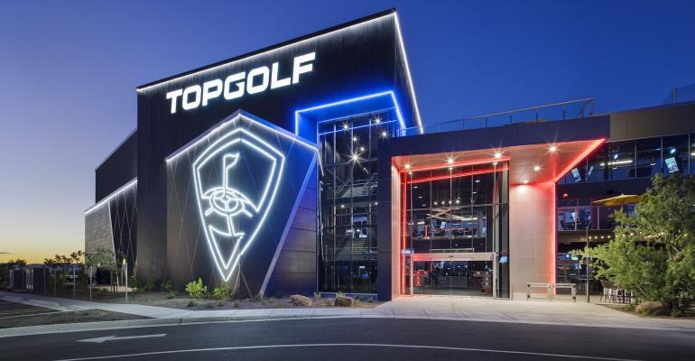Topgolf storefront