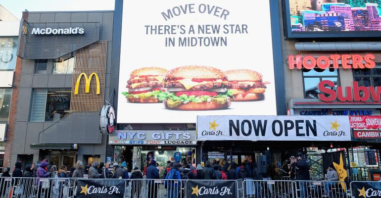 Carl's Jr. shutters heralded Manhattan location after five months