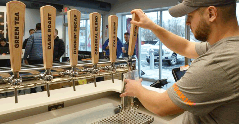 dunkin� donuts concept store offers nitro cold brew