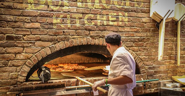 Inside Bertucci's open kitchen format