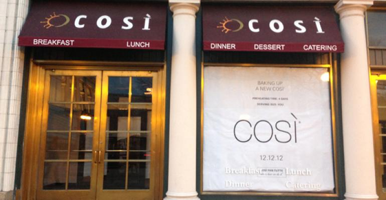 A look at Cosi's pop-up restaurant