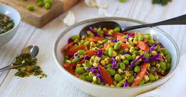 Fogo de Chao edamame corn salad