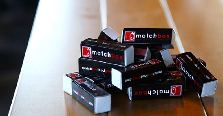 Matchbox restaurant matchboxes