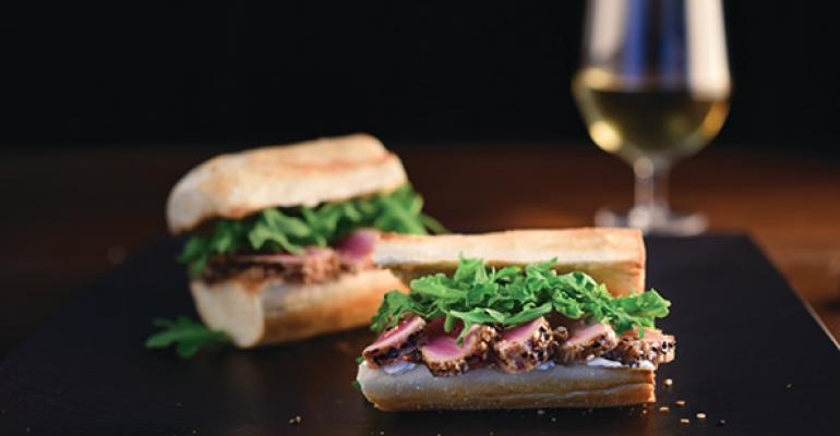 Newks Ahi Tuna Sandwich