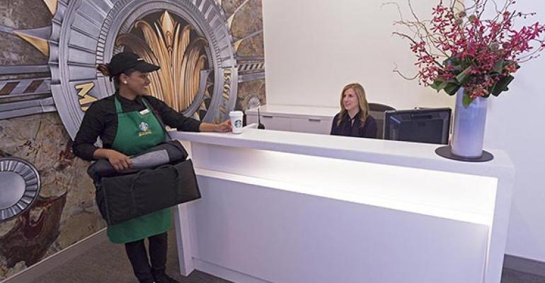 Starbucks debuts delivery at Empire State Building