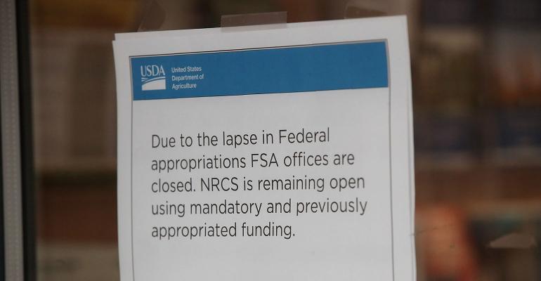 Government shutdown:  Falling consumer confidence, unpaid USDA inspect