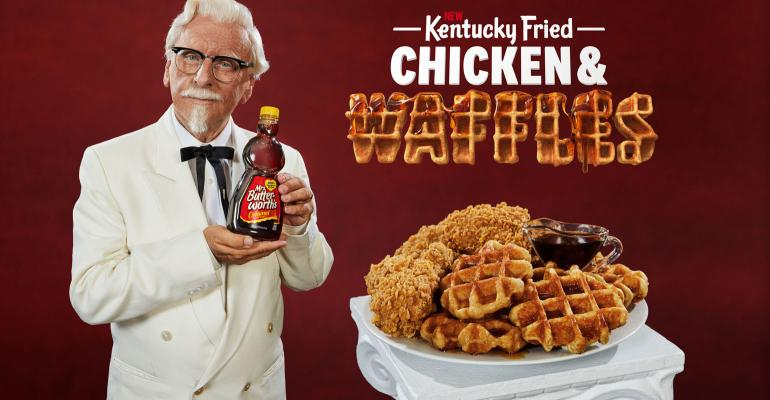 kfc wants to raise the bar with chicken and waffles meal nation s