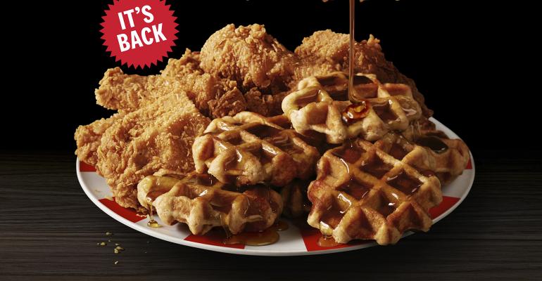 Kentucky Fried Chicken Waffles Returns After 4 Months