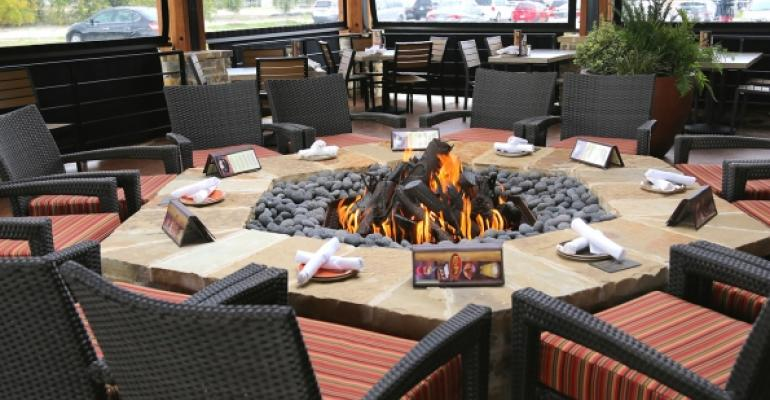 Fire pits are a part of many Lazy Dog units All photos by Ron Ruggless
