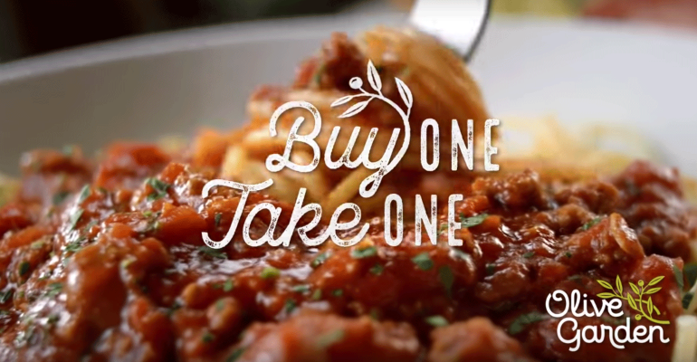 olive garden buy one take one