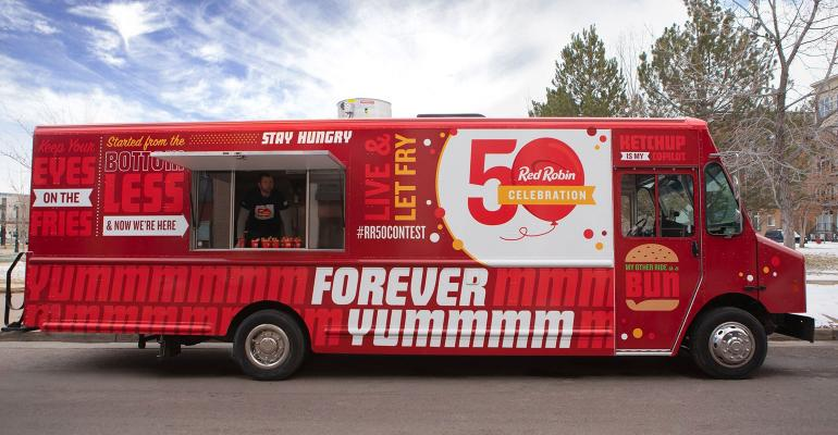 Red Robin hits the road with food truck