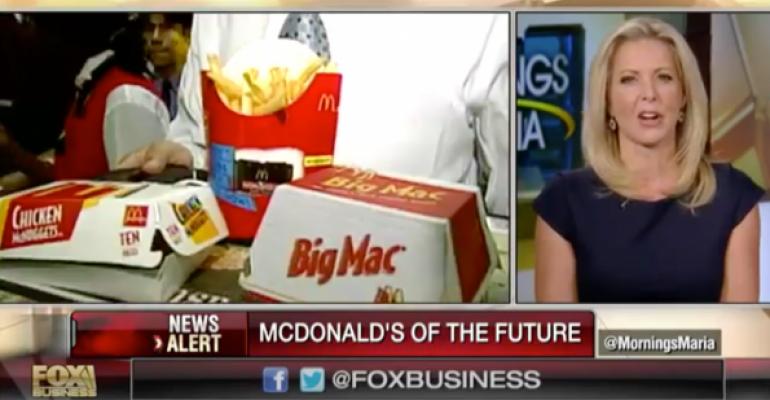 McDonalds items on tray