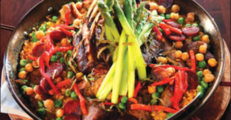 DISH OF THE WEEK: Lamb and asparagus paella