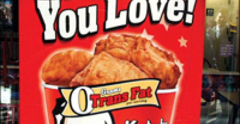 KFC's ads stake out lead QSR position in no-trans-fat frying