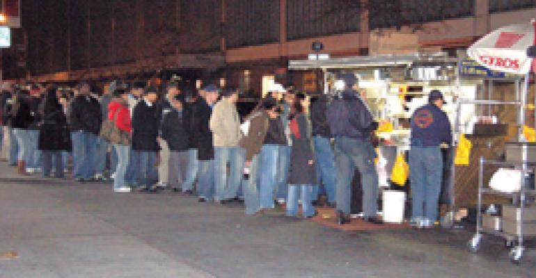 Street vendors brave tough urban market