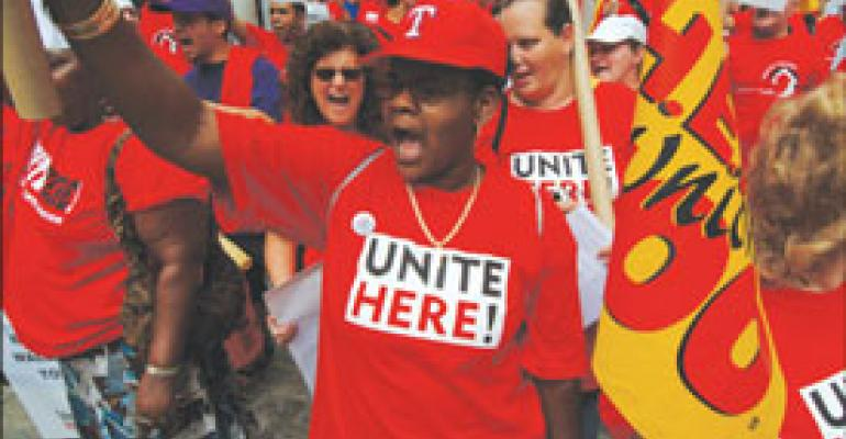 N.Y. protest portends more union activity aimed at on-site accounts