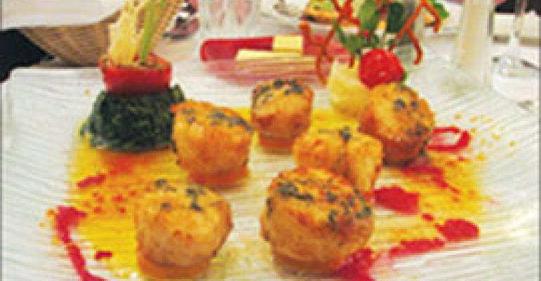 Dish of the Week: Scallops with beet coulis and sage oil