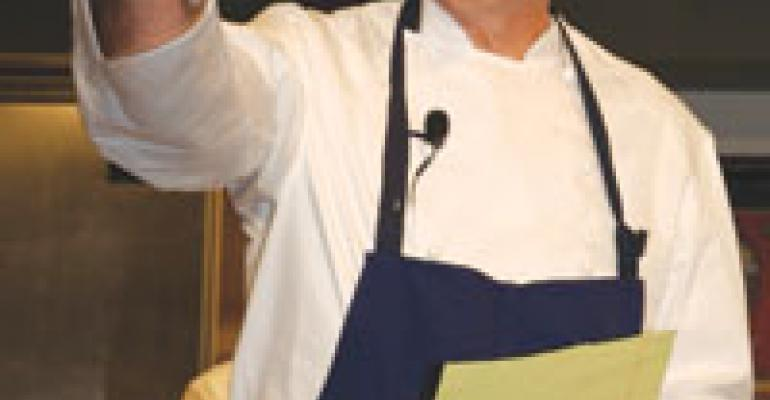 Chef Keller fields student questions at J&W