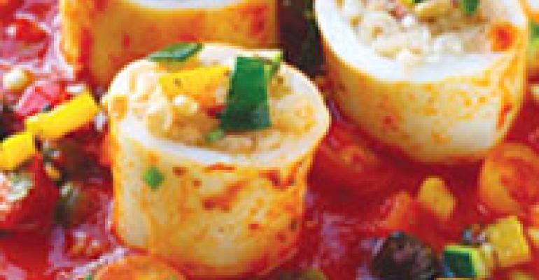 Dish of the Week: Risotto-stuffed calamari