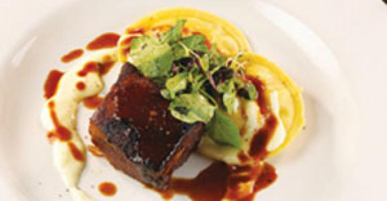 Dish of the Week: Pork belly with egg ravioli