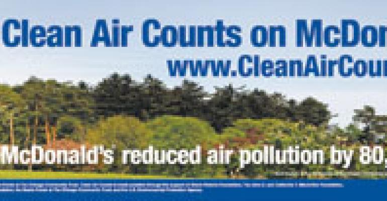 Clean-air initiative recognizes McD's eco-friendly efforts