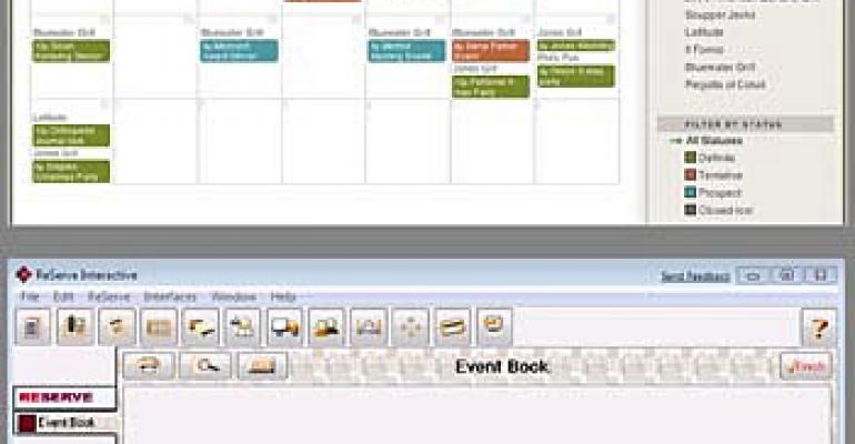 Operators booking time with hosted event management systems