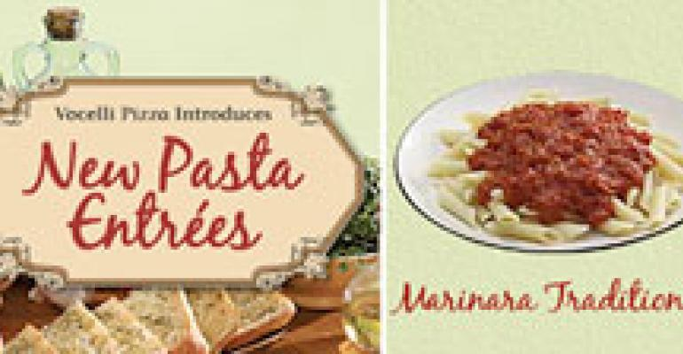 Pizza player Vocelli promotes new pasta line with giveaway