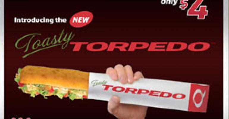 Quiznos launches $4 Torpedoes