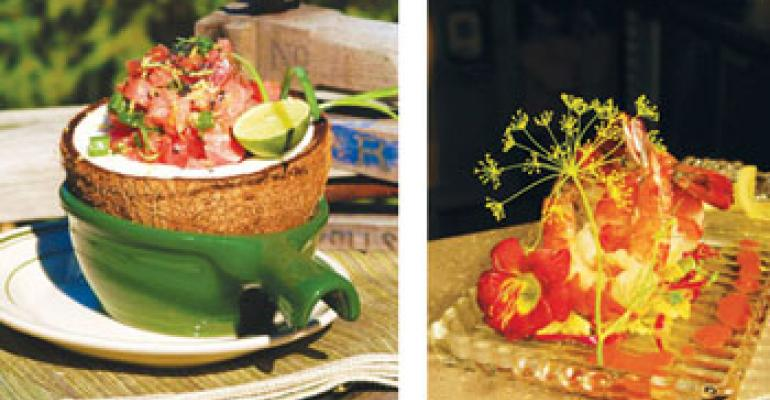 Spring break: Tropical flavors inspire chefs' offerings