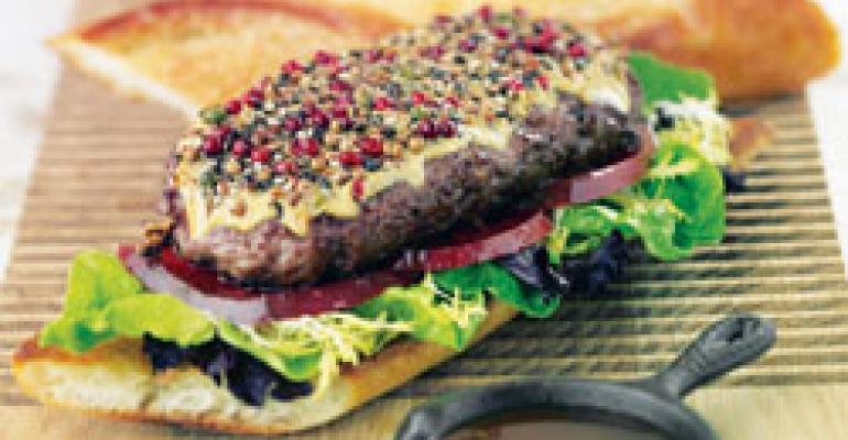 Burger au poivre