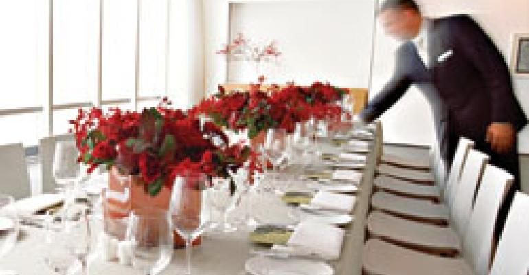 Upscale venues cater to downsized budgets
