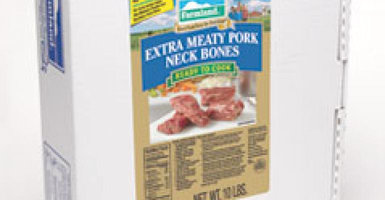 Farmland Extra Meaty Pork Neck Bones with Printed Labels bring the flavor.
