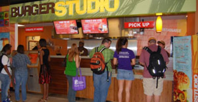 Aramark debuts touch-screen Burger Studio