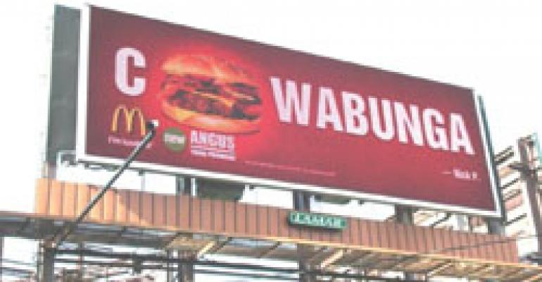Billboards 'super-size' McD's Angus message