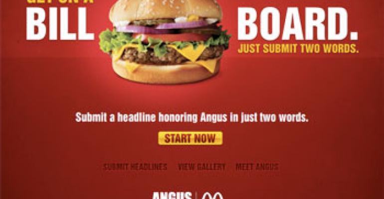 McDonald's lets customers write billboard slogans