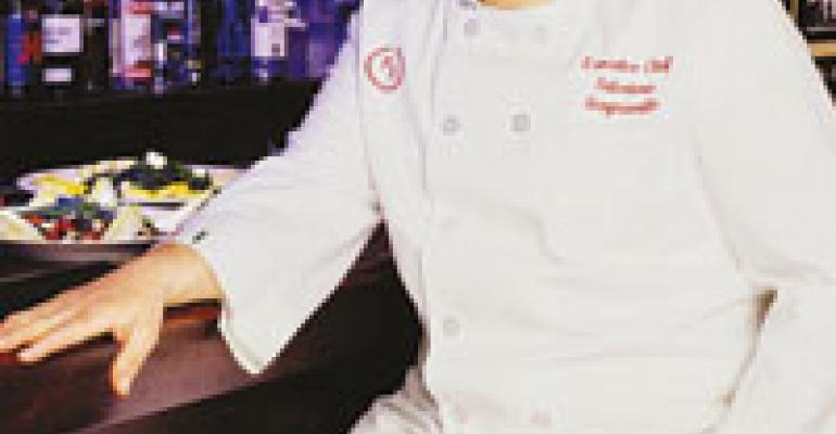 Having words with Sal J. Scognamillo, executive chef, co-owner, Patsy's Italian Restaurant