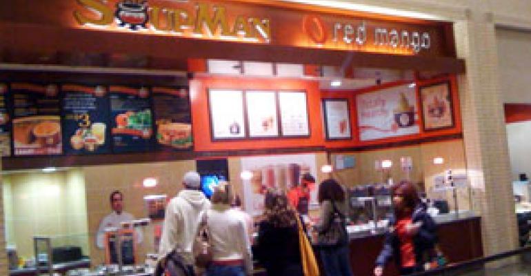 Red Mango unveils kiosks, self-serve units