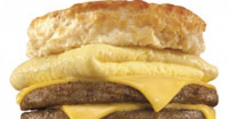 Hardee's debuts double sausage breakfast sandwich