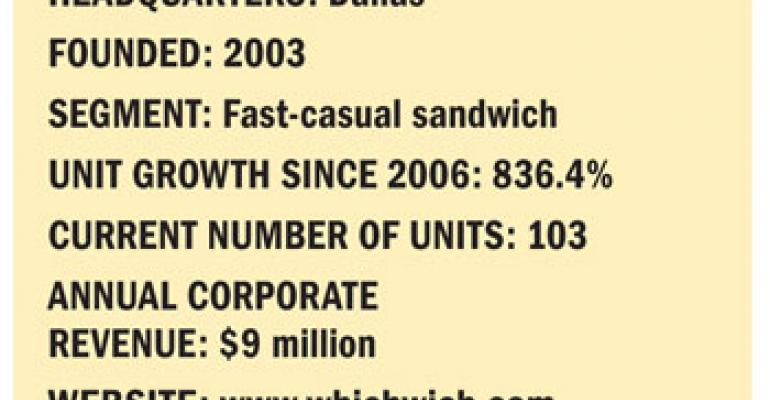 Fastest Growing Chains: No. 1 Which Wich Inc.