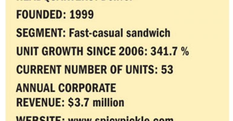Fastest Growing Chains: No. 8 Spicy Pickle Franchising Inc.